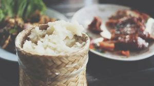 Should I eat less rice or meat if I am afraid of gaining weight?