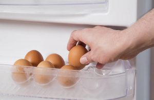 Can't put the fresh eggs from the refrigerator back?