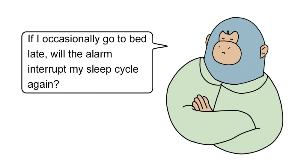 Why is it easier to get up early by setting the alarm clock later?