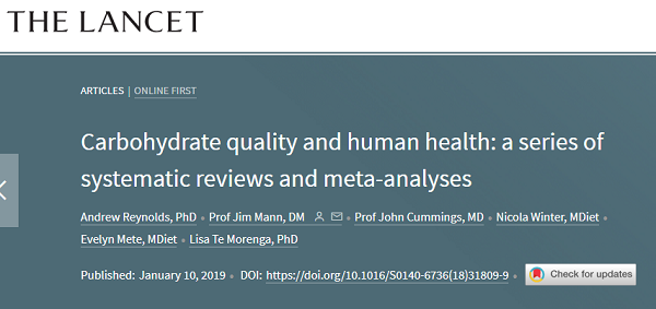"""""""Dietary fiber"""" is again praised! The Lancet: it is the human body's necessities for longevity"""