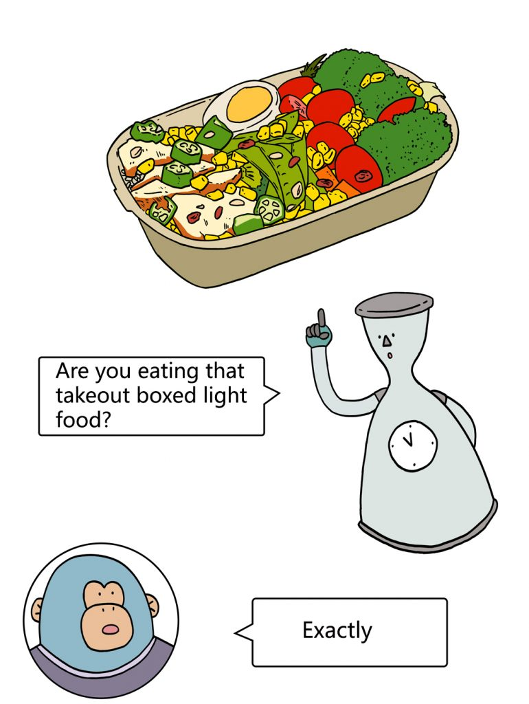 Why can't you lose weight by eating light food?